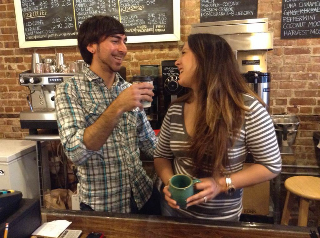 Will and Nina Chacon, Luna Caffe Coffee Shop Wilmington NC